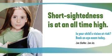 eye test for kids - short sightedness