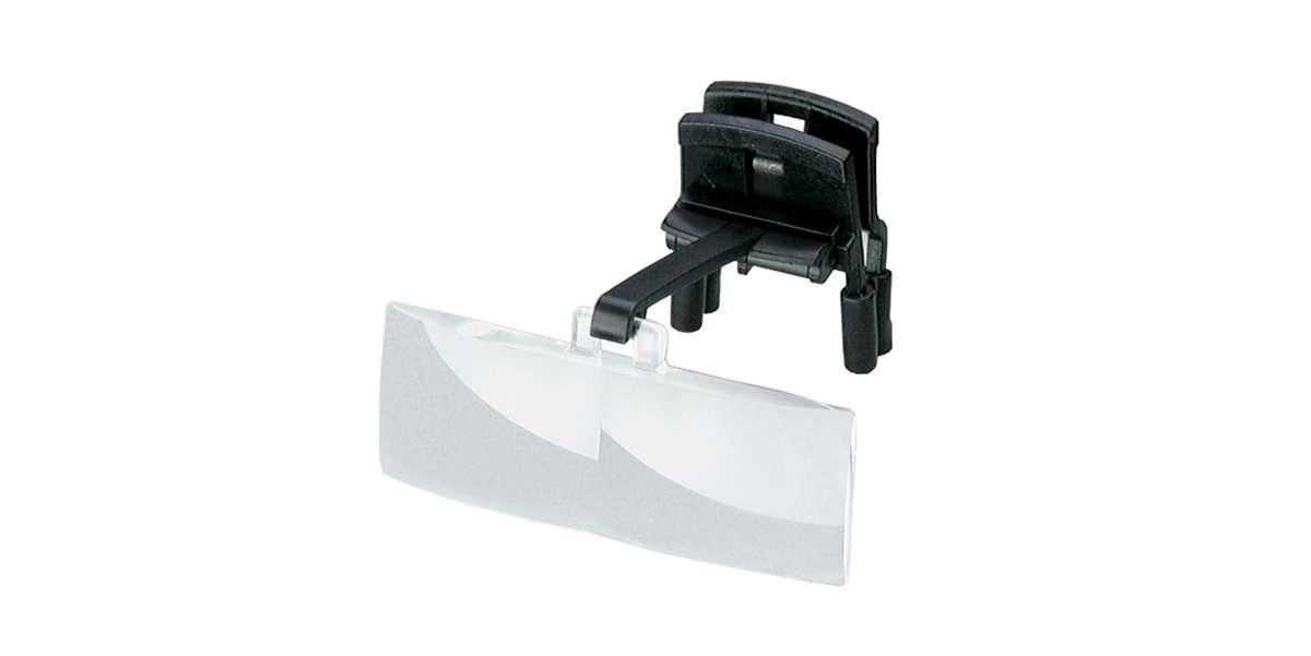 Binocular clip on magnifier